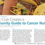 A photo of tacos, text: Gilda's Club creates a community guide to cancer nutrition